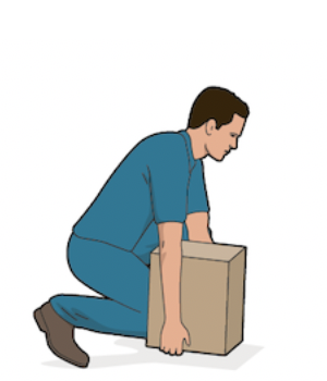 Bend down with box palletizing
