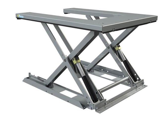 U shape hydraulic scissor lift table